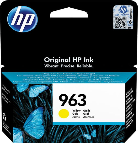 orig. Tintenpatrone HP 963 Yellow/Gelb 3JA25AE