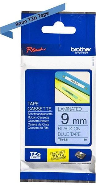 orig. Brother MK521/M-K521 Schriftbandkassette, schwarz/blau, 9mm