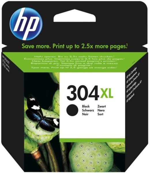 orig. HP Tintenpatrone N9K08AE Nr. 304XL black/schwarz ca. 300 Seiten 5,5ml