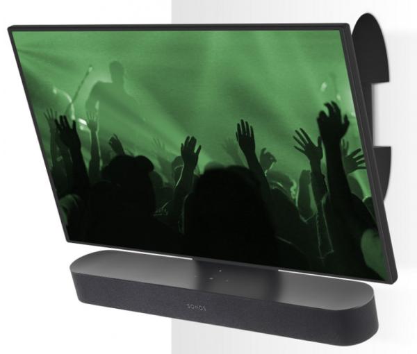 Flexson FLXBCM401021 TV-Wandhalter beweglich für Sonos Beam schwarz