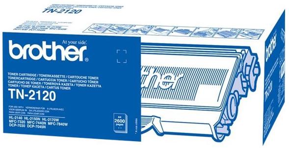 orig. Brother Toner TN-2120 black/Schwarz, ca. 2.600 Seiten