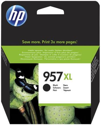 orig. Tintenpatrone HP 957XL L0R40AE, black/schwarz, ca. 3.000 Seiten