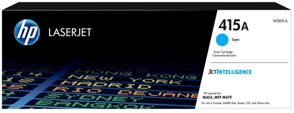 orig. Toner HP W2031A No. 415A cyan/blau ca. 2.100 Seiten