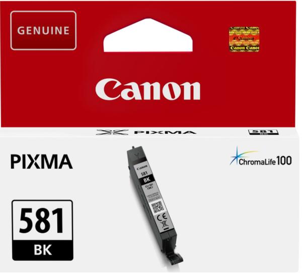 orig. Tintenpatrone Canon CLI-581BK black/schwarz 5,6ml für ca. 250 Seiten