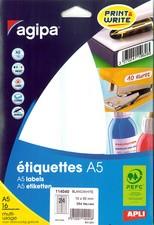 agipa Universal-Etiketten, Durchmesser: 30 mm, rund, weißfür Inkjet-/ Laserdrucker und Kopierer, n