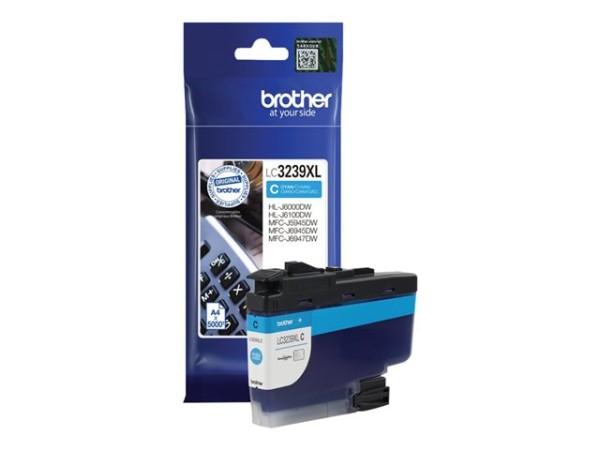 orig. Brother Tintenpatrone LC-3239XLC Cyan/Blau, ca. 5.000 Seiten