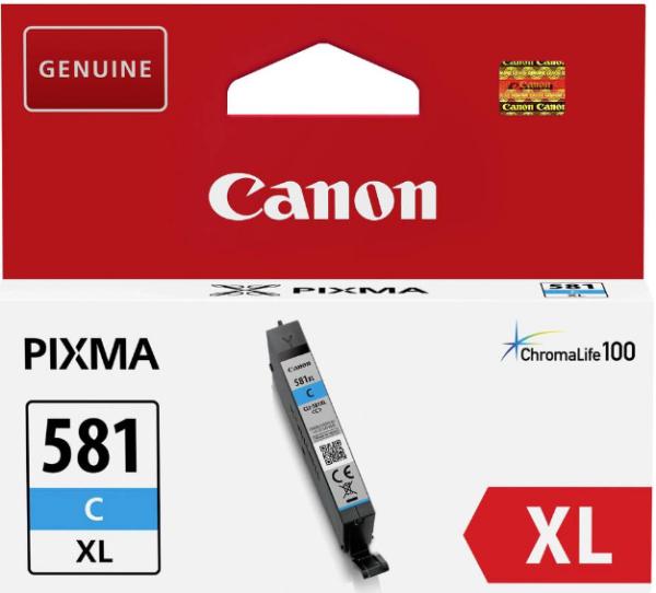 orig. Tintenpatrone Canon CLI-581XLC cyan/blau 8,3ml für ca. 500 Seiten