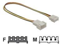 Delock Verlängerungskabel PWM Lüfteranschluss 4 Pin 20 cm 82429