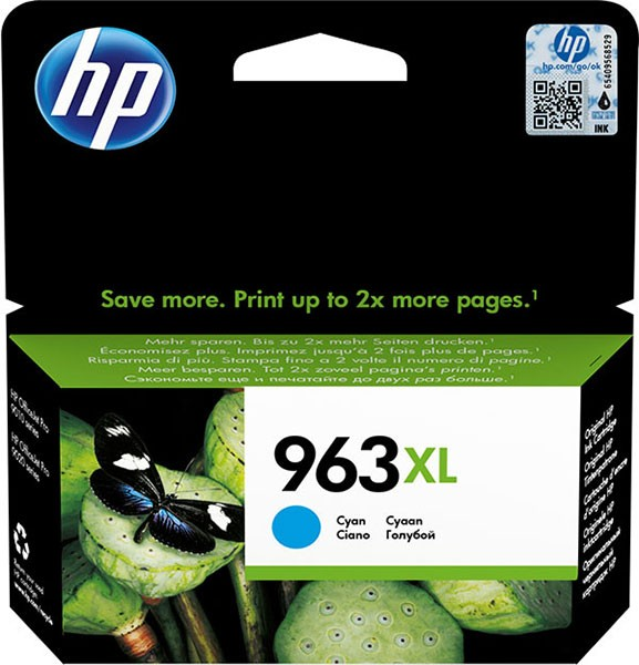 orig. Tintenpatrone HP 963XL Cyan/Blau 3JA27AE#BGX