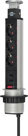 """brennenstuhl Steckdoseneinheit """"Tower Power"""", 3-fach, 2 USB-Anschlüsse, ohne Schalter"""