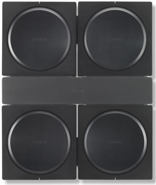 Flexson FLXSAWX4WM1021Wandhalter für 4 Sonos Amp