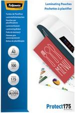 Fellowes Laminierfolientasche, DIN A4, glänzend, 350 mic2 x 175 mic (Protect), 100 Stk