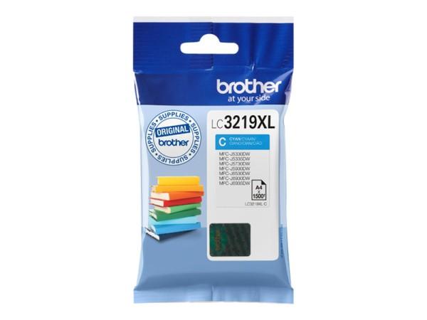 orig. Brother Tintenpatrone LC-3219XLC blau, ca. 1.500 Seiten