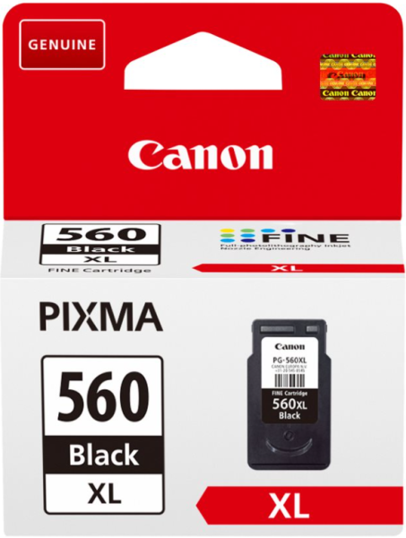 orig. Tintenpatrone Canon PG-560XL Black/Schwarz für ca. 400 Seiten