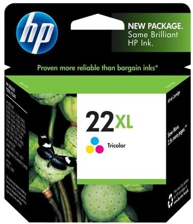Orig. Tintenpatrone HP C9352CE Nr.22XL color/farbe