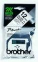 orig. Brother MK231S/M-K231S Schriftbandkassette, schwarz/weiß, 12mm