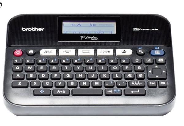 Brother P-Touch PT-D450VP - Beschriftungsgerät - s/w - Thermotransfer inkl. Hartschalenkoffer u. TZE