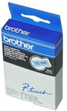 orig. brother TC101A/TC-101A Schriftbandkassette, schwarz/transparent 12mm