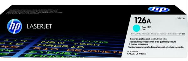 orig. Toner HP CE311A 126A Cyan/Blau 1.000 Seiten