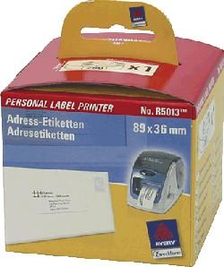 AVERY/Zweckform Adress-Etiketten auf Rolle, 89 x 36