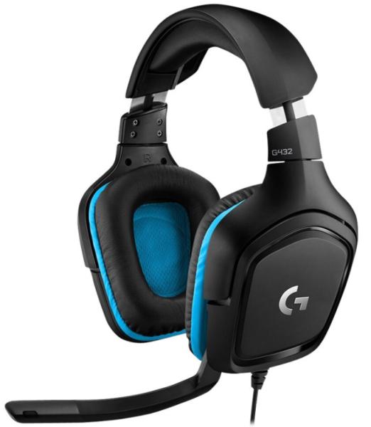 Logitech Gaming Headset G432 - Headset - 7.1-Kanal - ohrumschließend - kabelgebunden - USB, 3,5 mm S