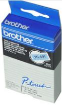 orig. Brother TCm91/TC-M91 Schriftbandkassette schwarz/farblos matt, 9 mm