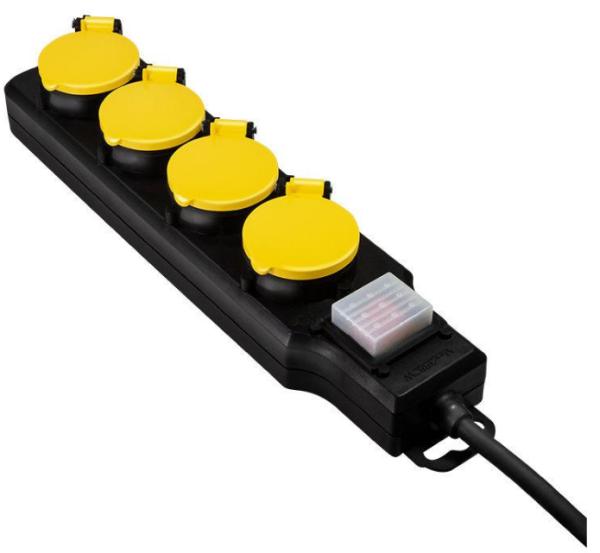 LogiLink Steckdosenleiste 4fach 4xCEE 7/3, mit Schalter Outdoor