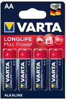"""VARTA Alkaline Batterie """"Longlife Max Power"""", Mignon AA/LR6 1,5V 4er Blister"""
