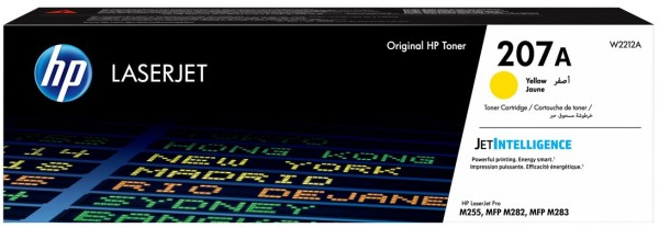 orig. Toner HP Nr.207A W2212A Cartridge yellow/gelb 1.250 Seiten