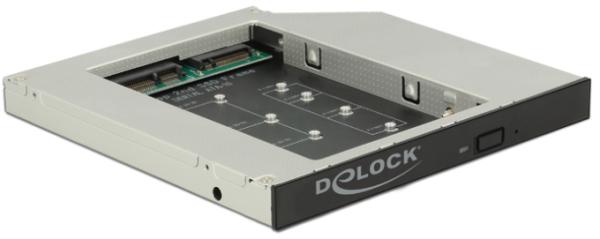 DELOCK Einbaurahmen Slim SATA 5,25 Zoll (13,33 cm) für 1 x M.2 / mSATA SSD 62718