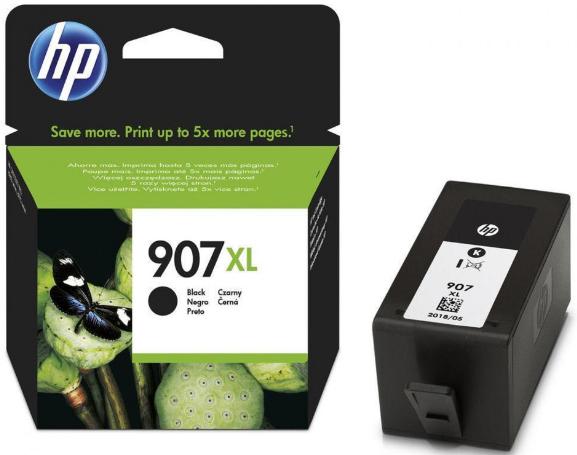 orig. Tintenpatrone HP 907XL T6M19AE, black/schwarz, ca. 1500 Seiten