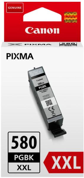 orig. Tintenpatrone Canon PGI-580XXLPGBK black/schwarz, 25,7ml für ca. 600 Seiten