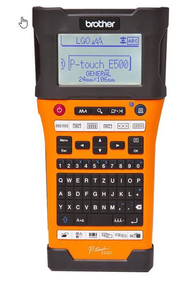 Brother P-Touch PT-E500VP - Beschriftungsgerät - s/w - Thermotransfer - inkl. Tragetasche, TZE Band