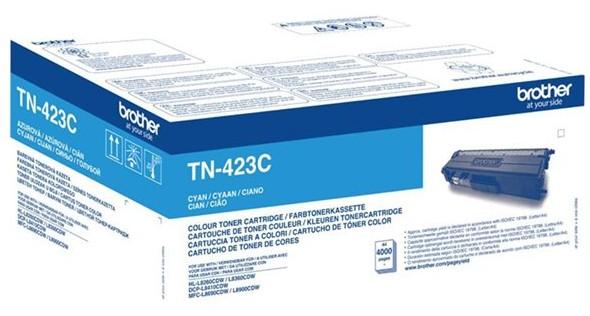 orig. BROTHER TN-423C Tonerkassette Cyan/Blau, ca. 4000 Seiten