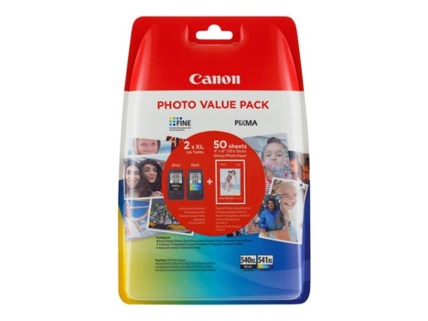orig. Tintenpatrone Canon PG-540XL/CL-541XL Multipack Black/Schwarz/Color/Farbe für ca. 600 Seiten