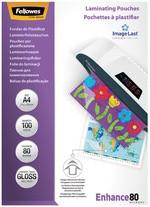 Fellowes Laminierfolientasche, DIN A4, glänzend, 160 mic2 x 80 mic (Enhance), 25 Stk