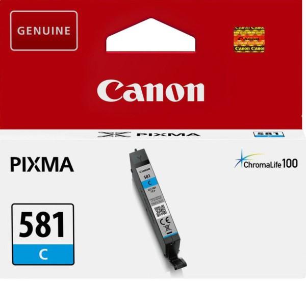 orig. Tintenpatrone Canon CLI-581C cyan/blau, 5,6ml für ca. 250 Seiten