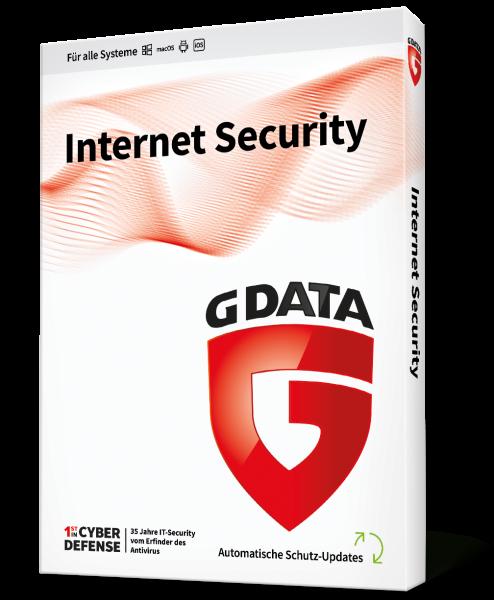 GDATA Internet Security 3 User für 1 Jahre Downloadlizenz Vollversion - Key only