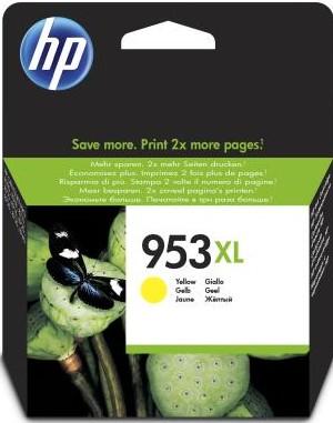orig. Tintenpatrone HP 953XL F6U18AE, yellow/gelb, ca. 1.600 Seiten