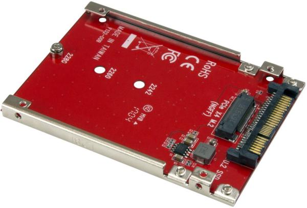 StarTech M.2 PCIe-NVME SSD auf U2 Adapter Rot, U2M2E125