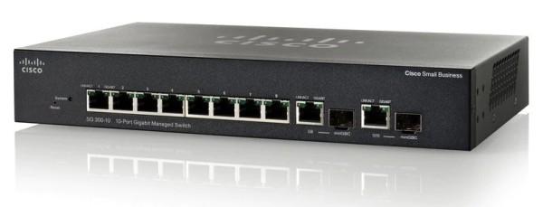 Cisco SG 300-10 8-Port Gigabit Switch + 2x Kombi-Gigabit, SRW2008-K9-G5