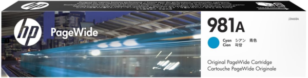 Orig. Tintenpatrone HP J3M68A Nr. 981A cyan/blau ca. 6000 Seiten