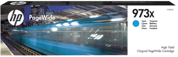 Orig. Tintenpatrone HP F6T81AE Nr. 973X cyan/blau, ca. 7000 Seiten
