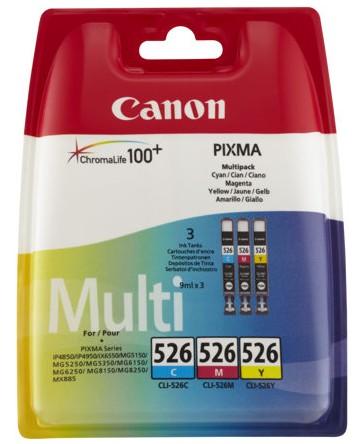 orig. CANON CLI-526 C/M/Y MultiPack Color Cyan, Magenta, Gelb für Pixma