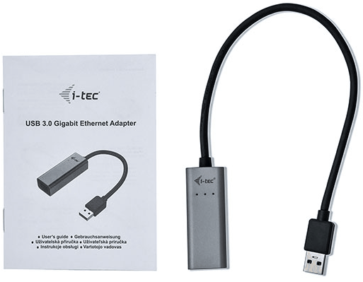 I-Tec USB 3.0 auf Gigabit Ethernet Adapter 1x USB 3.0/RJ-45 U3METALGLAN