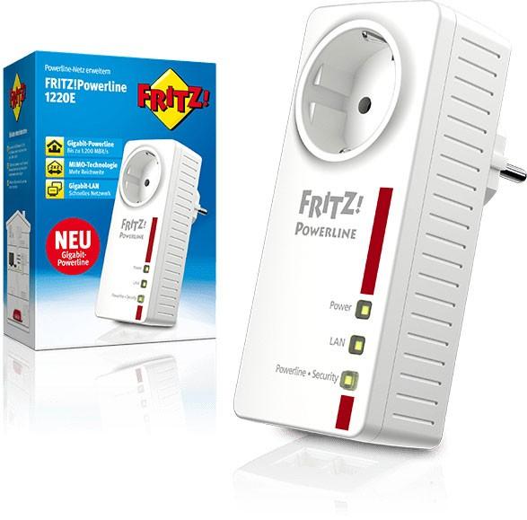 AVM FRITZ! Powerline 1220E Single 1200MBit/s,2x2MIMO-Technologie