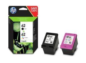 HP Tintenpatrone N9J71AE Nr. 62 Schwarz + Color Multipack