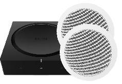 Set - Sonos AMP mit dtron Bas13 Deckeneinbaulautsprecher 120Watt (Paar)