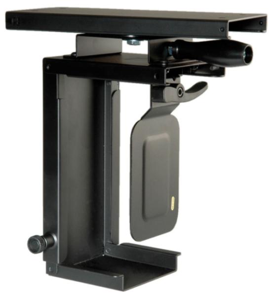ROLINE Mini-PC-Halter ausziehbar, drehbar, schwarz