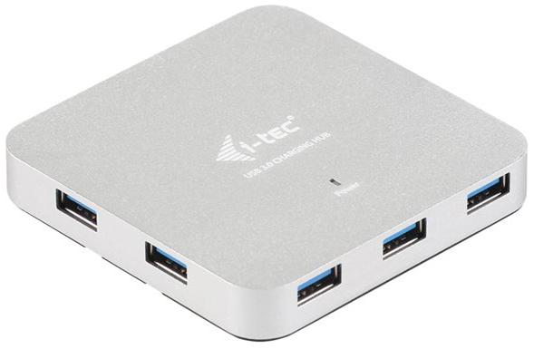 I-TEC USB 3.0 Metal Active USB-HUB 7 Port mit Netzteil ideal fuer Notebook Ultrabook Tablet PC
